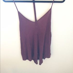 Silence + Noise Burgundy Tank Top