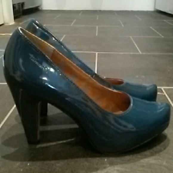 buying cheap shop best sellers new design Teal Patent Leather Pumps from Tamaris