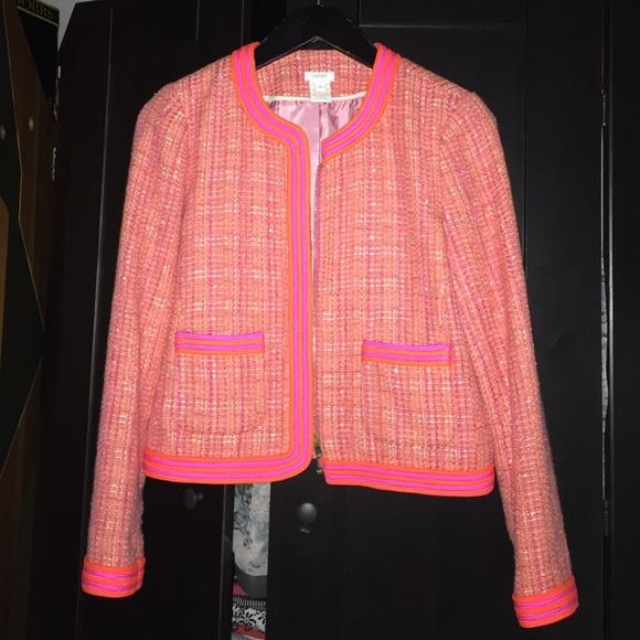 J. Crew Jackets & Blazers - J.crew plaid Boucle tweed jacket