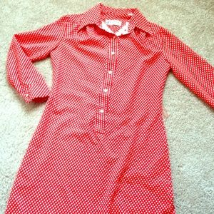 Lanvin Dresses & Skirts - Vintage Lanvin Red w White Polka Dots Dress