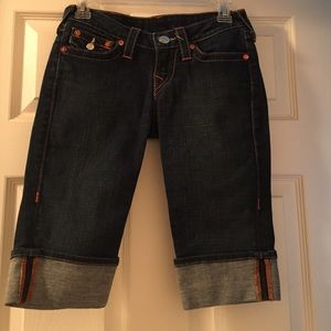 True religion midi shorts