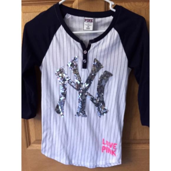 VS Pink Yankees shirt. M 55b52df92bbdeb6eae00ab26 80d5611c8f7