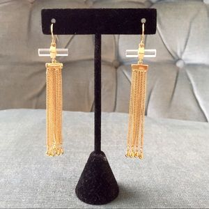 Rachel Zoe Cut Crystal Tassel Earrings