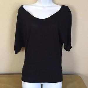 Black Sweater Top Sz S