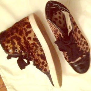 Lanvin Shoes - Lanvin  leopard high tops