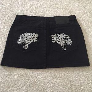 Ed Hardy Dresses & Skirts - Ed Hardy black denim skirt