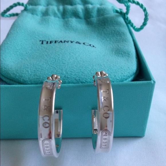 371ea41f3 TIFFANY & CO. 1837 Silver Hoop Earrings Authentic.  M_55b544318ae33e492000b759