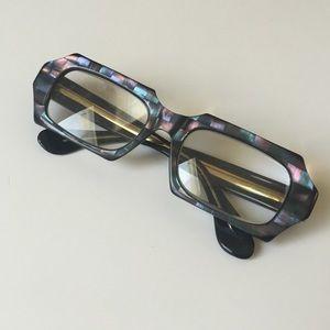 Vintage eyeglasses iridescent purple pink Aqua