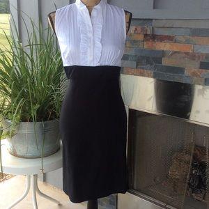 Dresses & Skirts - 💣 White Ruffled Black Dress