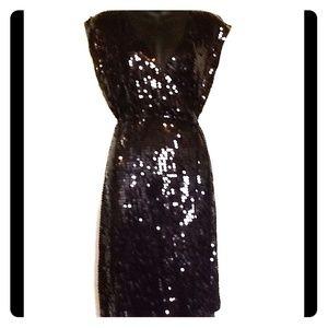 MICHEAL KORS DRESS SIZE SMALL BLACK SEQUIN DESIGN