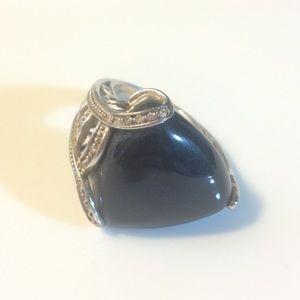 Sterling silver designer statement ring