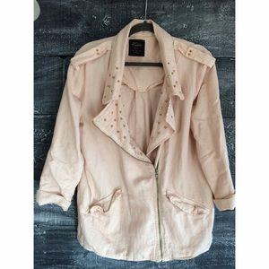 80% off Zara Jackets u0026 Blazers - Zara Trafaluc Collection Jacket pale pink from Fallonu0026#39;s closet ...
