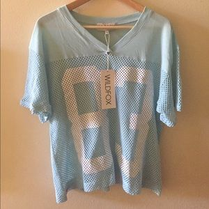 Wildfox Tops - SOLD! NWT WILDFOX Foxercise Mesh Jersey