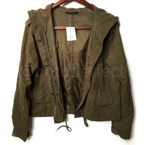 OFFERS? Brandy Melville Hailey Army Green Jacket
