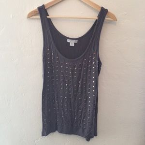 Grey Studded Top