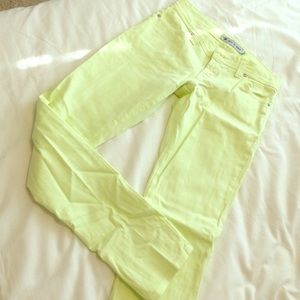 Nine Planet Jeans - Nine Planet lime skinny jeans