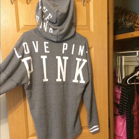 PINK Victoria's Secret - ⛔️HUGE SALE⛔ Love Pink Gray Varsity ...