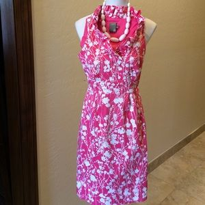Taylor Dresses & Skirts - Taylor Pink & White Ruffled Floral Dress