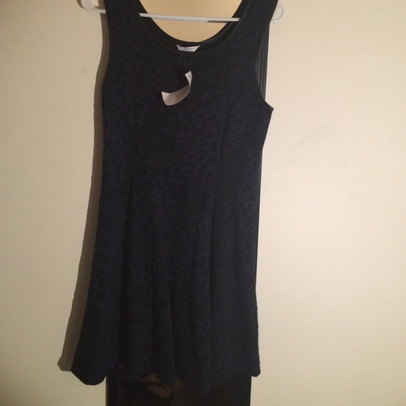 New Look Dresses Black And Blue Sophisticated Skater Dress Poshmark