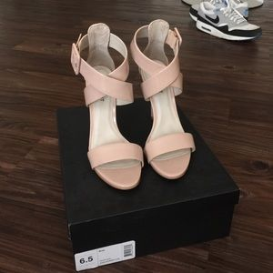 "Shoemint size 6.5 nude patent leather ""Bree"""