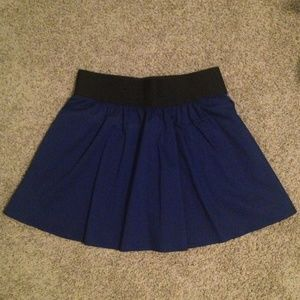 Express Blue Skirt w Black Elastic Waistband NWT