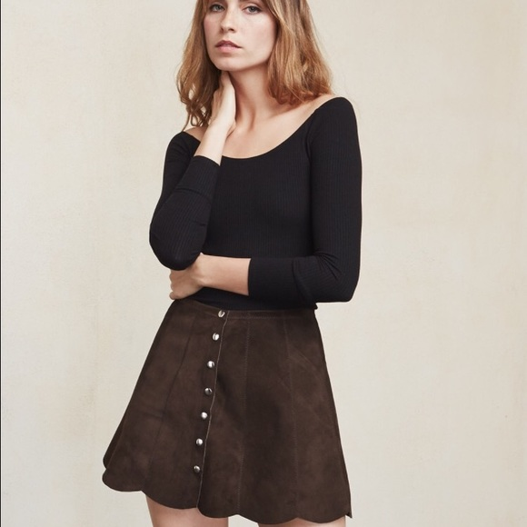 49% off Reformation Dresses & Skirts - Reformation Abigail Suede ...