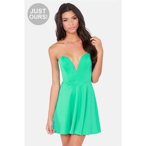 Lulu's Dresses & Skirts - LULUS Exclusive Flare Mint Green Strapless Dress