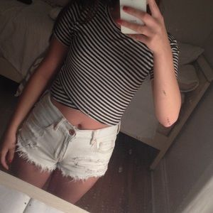 UO striped crop top