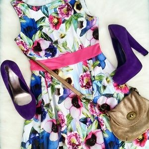 Attention  Dresses & Skirts - 3 for $45/ Floral Skater Sleeveless Dress