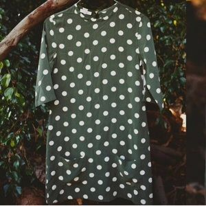 NWT equiptment polka dot dress