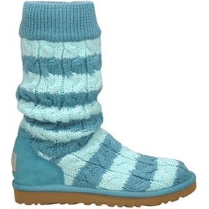 Classic Tall Stripe Cable Knit Ugg Boots