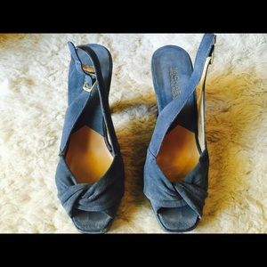 Blue suede MICHAEL KORS ladies shoes