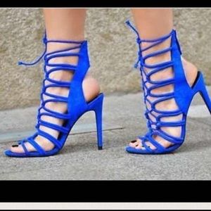 Zara - Zara cobalt blue strapped gladiator heels from Tiara's ...