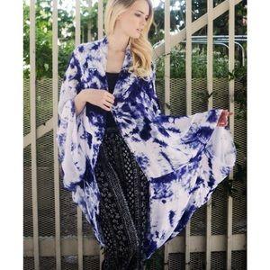 """Looking Glass"" Kimono Scarf Cardigan"