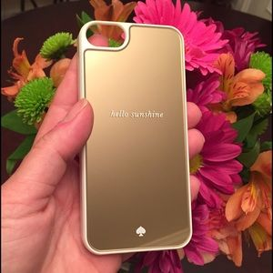 Kate Spade iPhone5S gold mirror case
