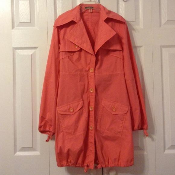 Ecoganik Jackets Amp Coats Peach Pink Light Trench Coat