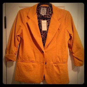 Jackets & Blazers - Mustard Dress Jacket