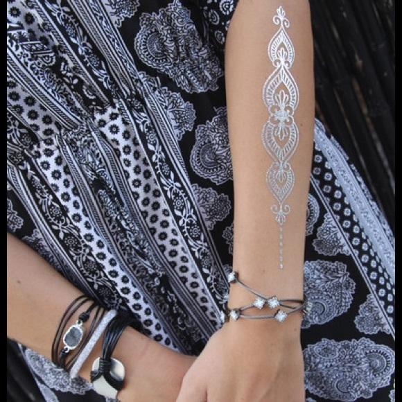 1550763bc9069 BohoTats USA Accessories | Metallic Tattoos Henna Hand Piece | Poshmark