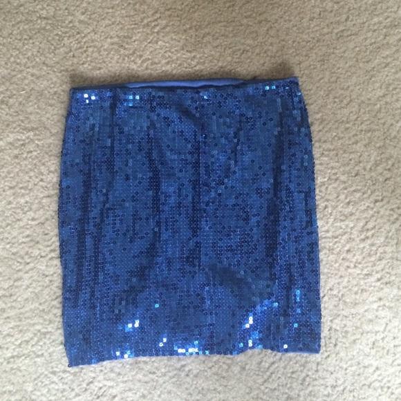 50 seal dresses skirts blue sequin skirt from