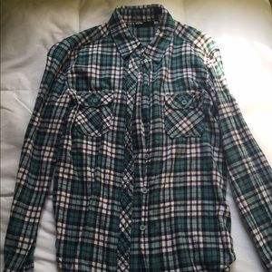 Turquoise Flannel Urban Outfitters