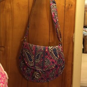 Vera Bradley RETIRED Boysenberry Saddle Up Bag