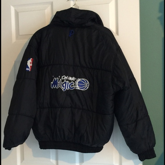 pro player for foot locker reversible orlando magic jacket puffy coat nba from melody 39 s closet. Black Bedroom Furniture Sets. Home Design Ideas