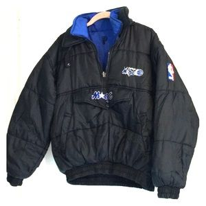 Reversible Orlando Magic Jacket Puffy Coat NBA