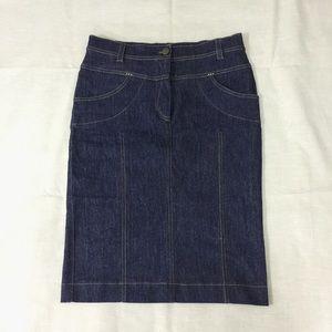 Dresses & Skirts - NWT Dark Wash Denim Jeans Pencil Skirt