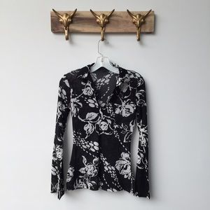 Anthropologie Tops - Anthropologie Floral Oxford