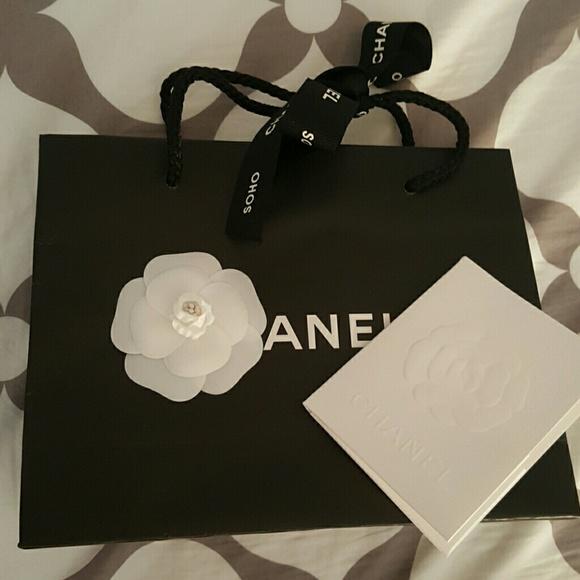 50382efac6cc CHANEL Bags | Authentic Shopping Bag Camellia Ribbon | Poshmark