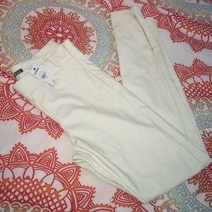 4fecf95107ccf Express Pants | Cream Faux Leather | Poshmark