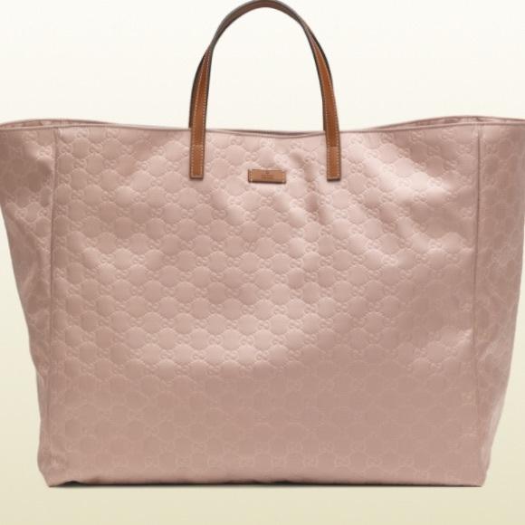 Gucci Beige Guccissima Nylon Tote Bag xPHYvvr
