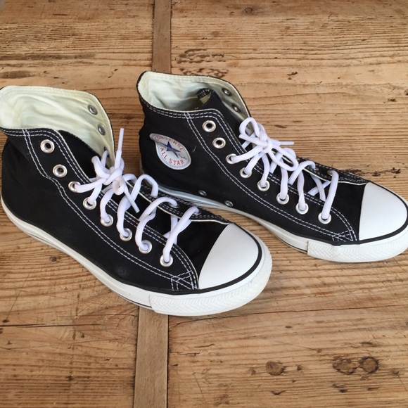 639448c9e7bd Converse Shoes - Converse All Star high tops black women s size 9