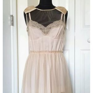 Rodarte for Target Beige Pink Tulle/Lace Dress